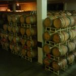 Artesa Winery subterranean barrel cellar.