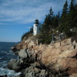 Bass Harbor Lighthouse on Mount Dessert Island in Acadia National Park, Maine.